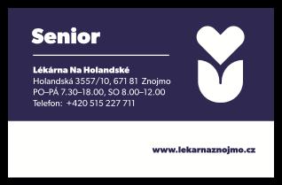 Senior karta – Lékárna Na Holandské Znojmo
