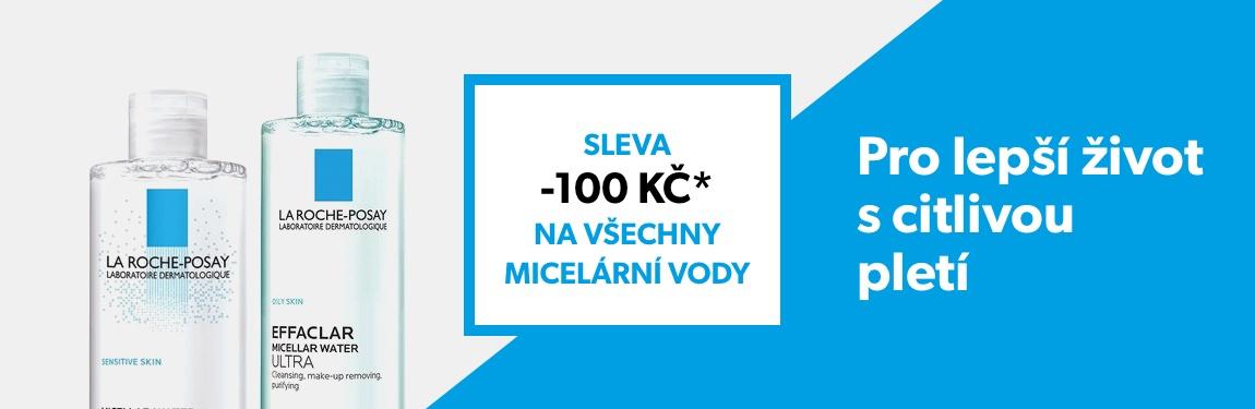 Sleva -100 Kč na všechny micelární vody La Roche–Posay při nákupu nad 399 Kč