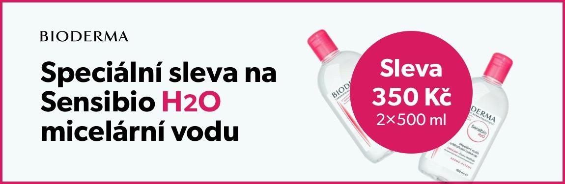 Bioderma Sensibio H20 sleva 350 Kč (balení 2×500 ml)