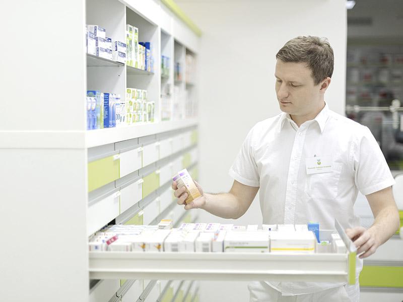 Příjemné prostředí moderní lékárny